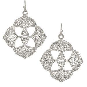 Kendra Scott Dawn Medallion Earrings in Silver